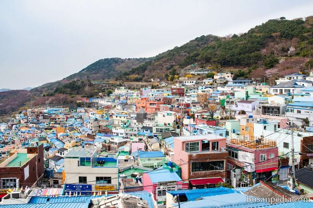 View of Busan Gamcheon Culture Village from right side