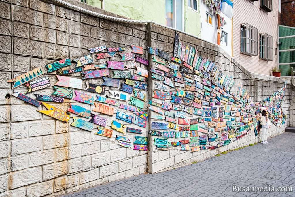 Fish Street Art at Gamcheon Culture Village Busan