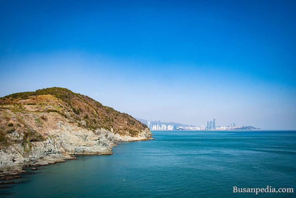 Igidae and Haeundae looking from Oryukdo Skywalk, Busan, South Korea