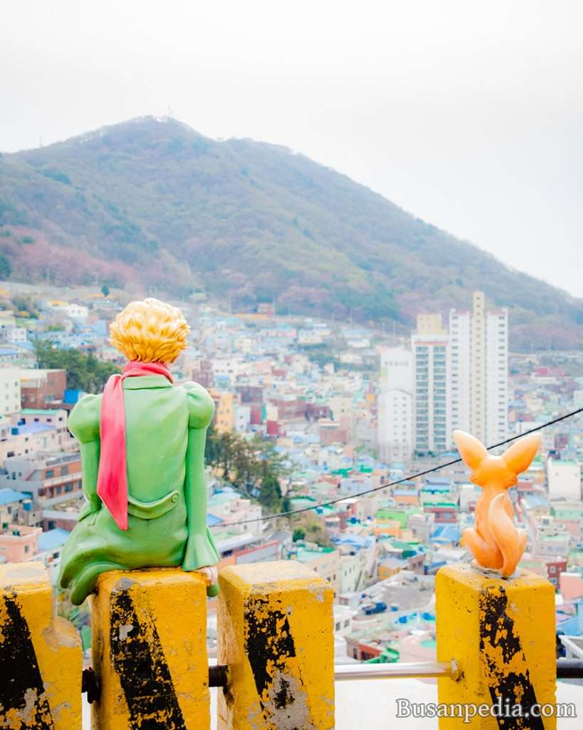 The famous Little Prince Photo Zone at Gamcheon Culture Village Busan