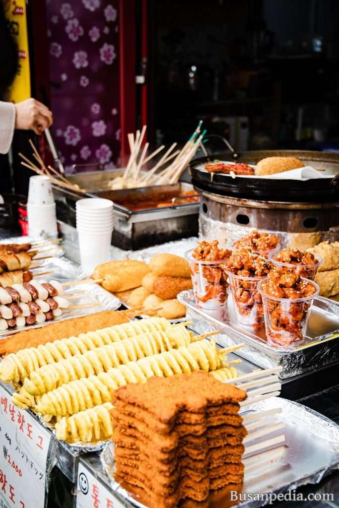 Korean Street Food in Busan, South Korea