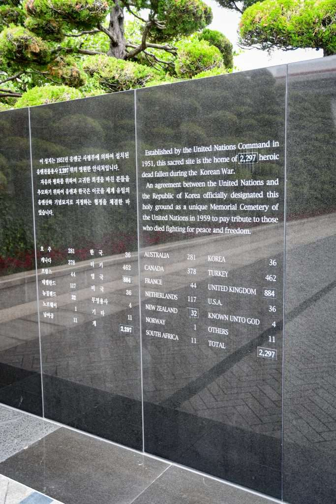 Information about United Nations Memorial Cemetery