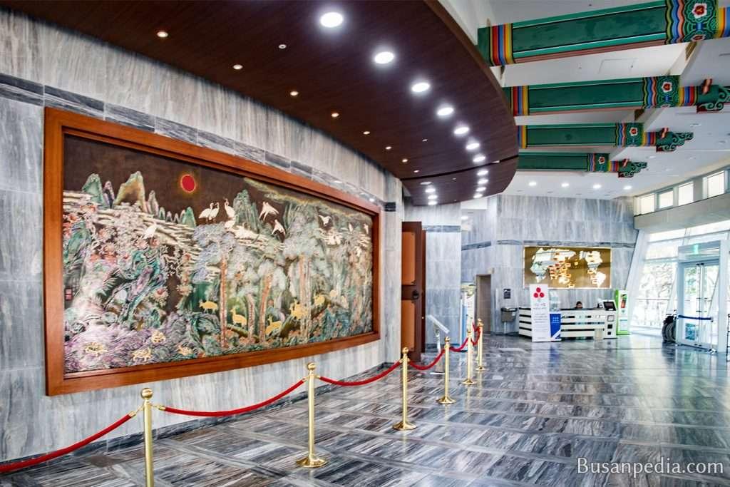 Lobby at Nurimaru APEC House in Busan