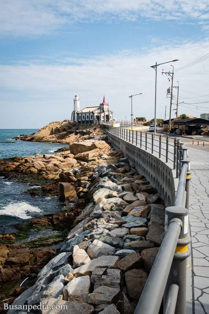 road to Gijang Jukseong Church in Busan, Korea