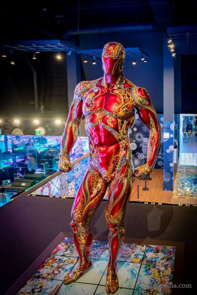 Iron Man in Collage Art form at Museum DAH