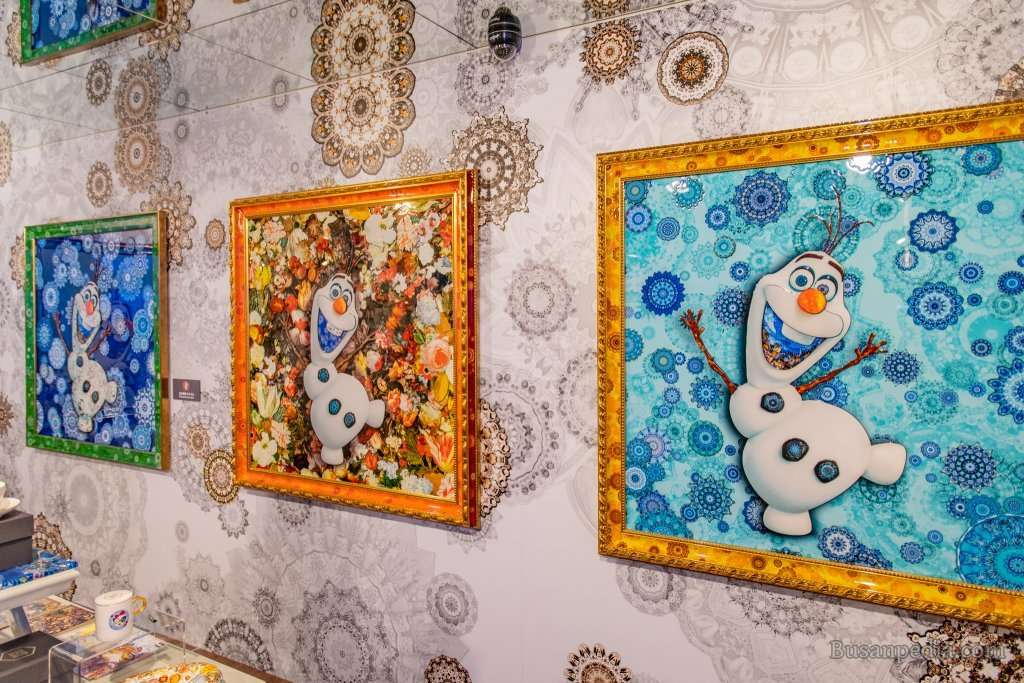 Olaf in Collage Art Form