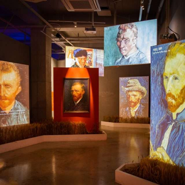 Van Gogh's Portraits in Convergence Art Form