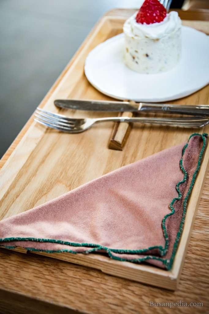 Eco friendly fabric napkin at Haeundae Cafe