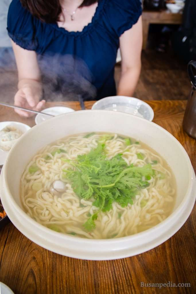 Kalguksu, Korean Noodle in Busan, South Korea