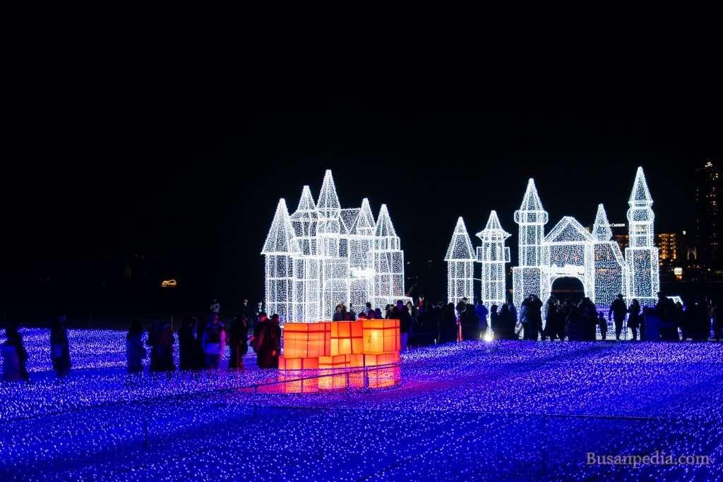 Light Castles at Haeundae Light Festival