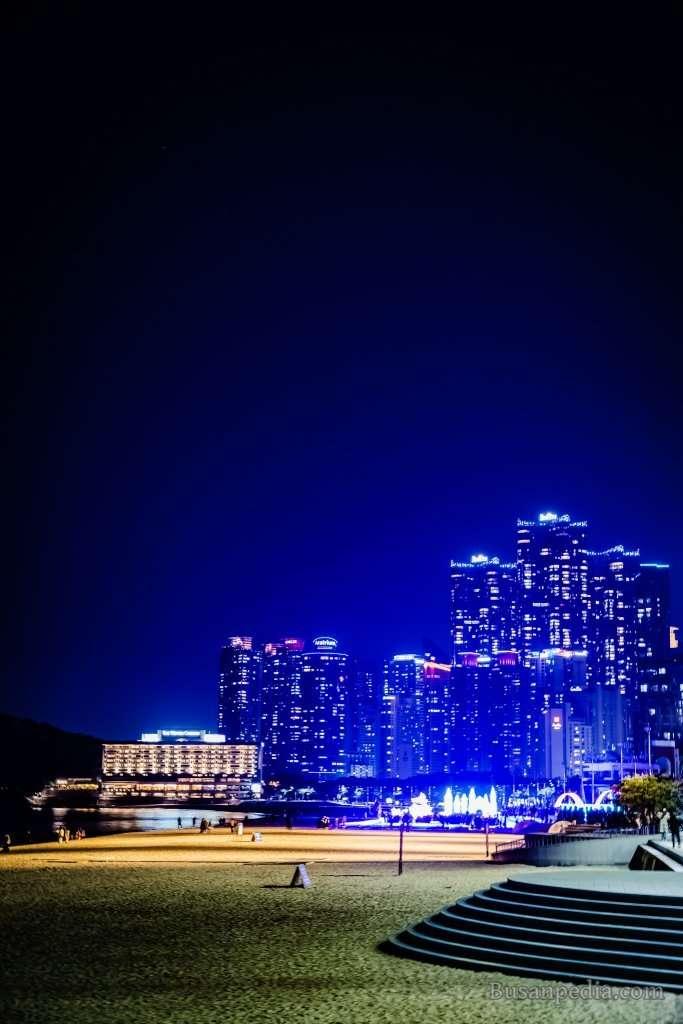 Haeundae Night View in Busan, South Korea