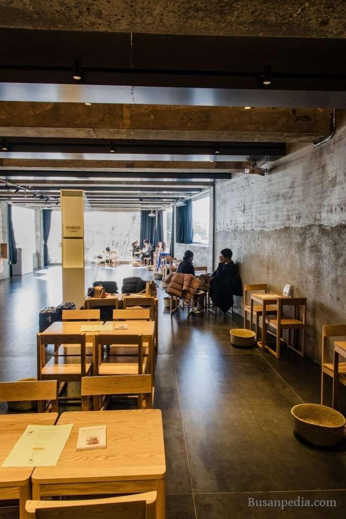 Inside Cafe Earth Us in Haeundae
