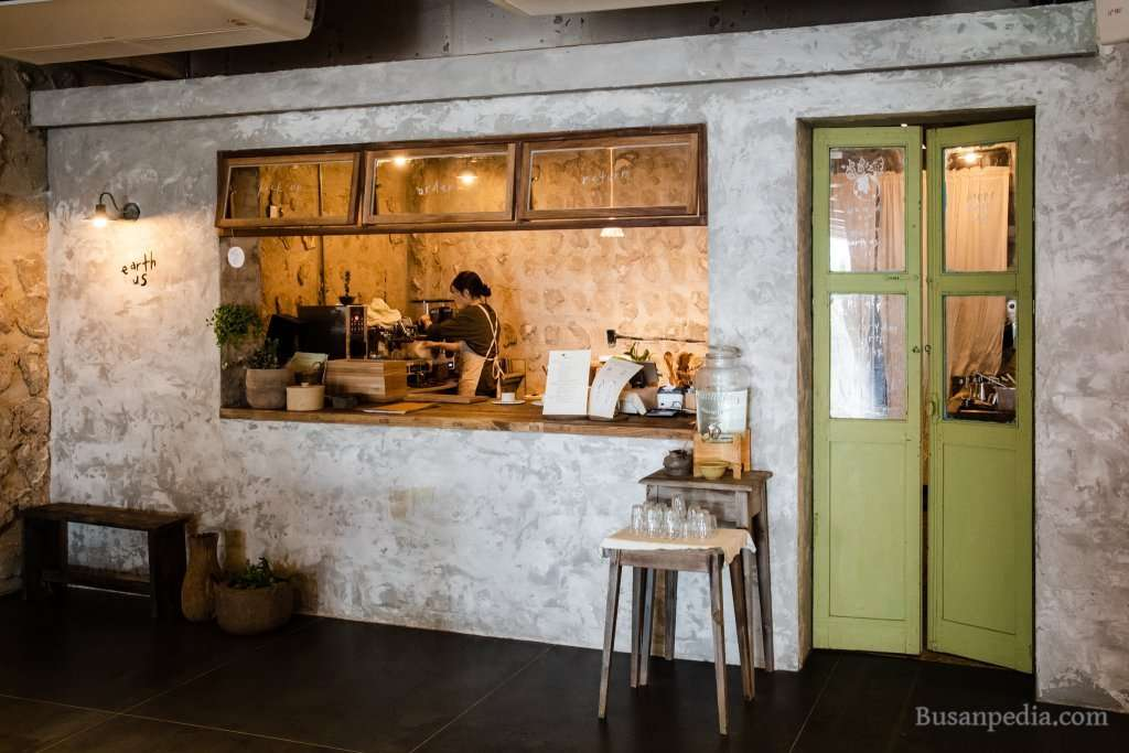 Kitchen at Busan Cafe Earth Us