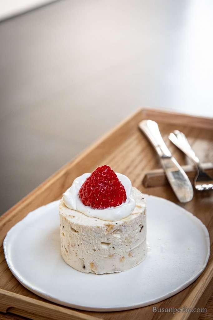 Strawberry Cream Cheese Cake at Cafe Earth Us