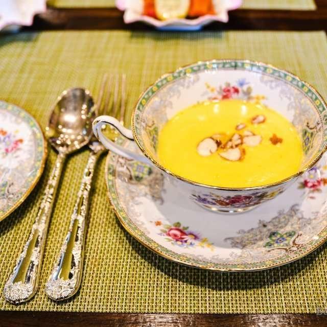 pumpkin soup at Cafe Shelley in Haeundae, Korea